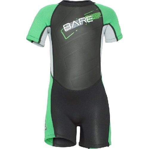 Černo-zelený dětský neoprenový short Tadpole