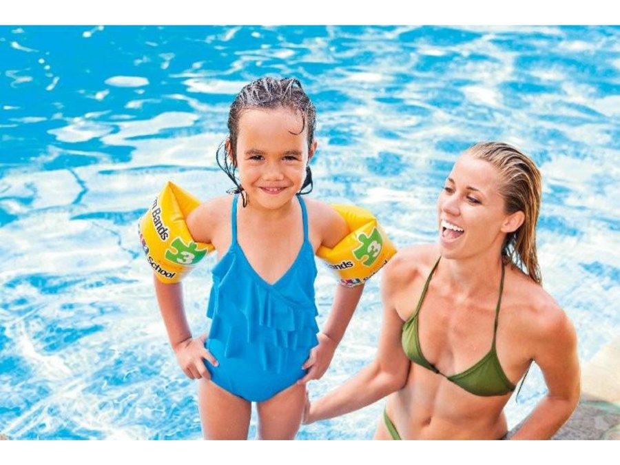Žluté dětské nafukovací plavecké rukávky 56643 POOL School, INTEX