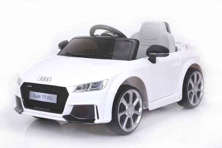 Bílé dětské elektrické autíčko Audi TT, Beneo