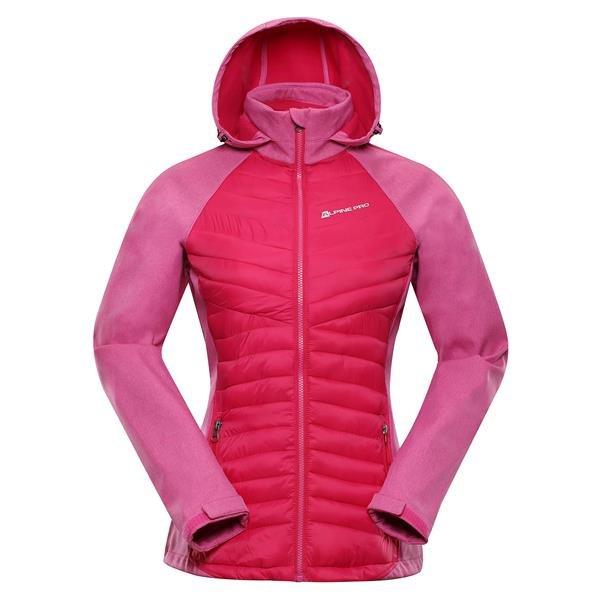 Růžová softshellová dámská turistická bunda Alpine Pro