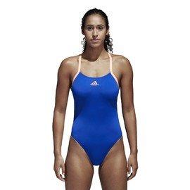 Modré jednodílné dámské plavky Adidas