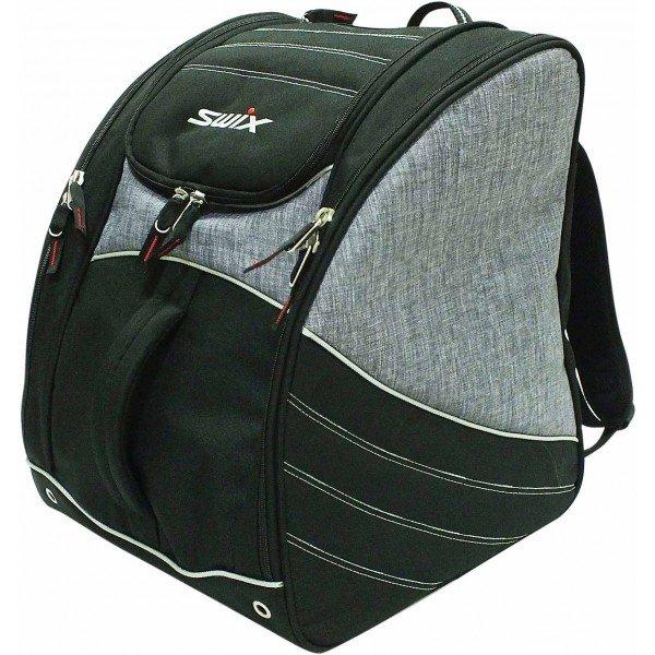 Černo-šedá taška na lyžařské boty pro 1 pár Swix
