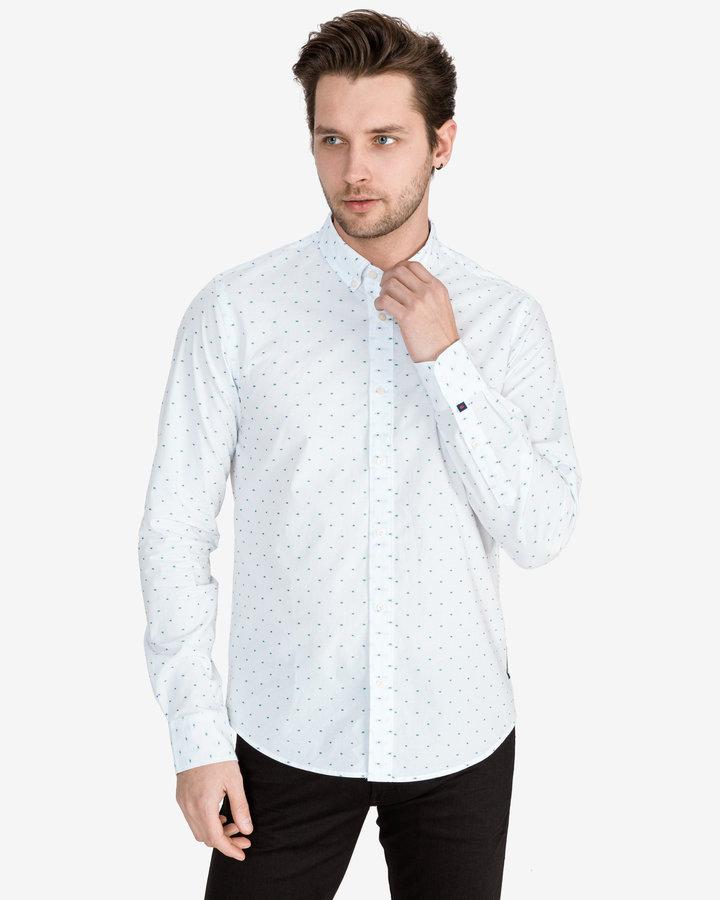 Bílá pánská košile s dlouhým rukávem Scotch & Soda