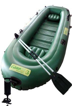 Zelený nafukovací člun pro 2 osoby ZICO