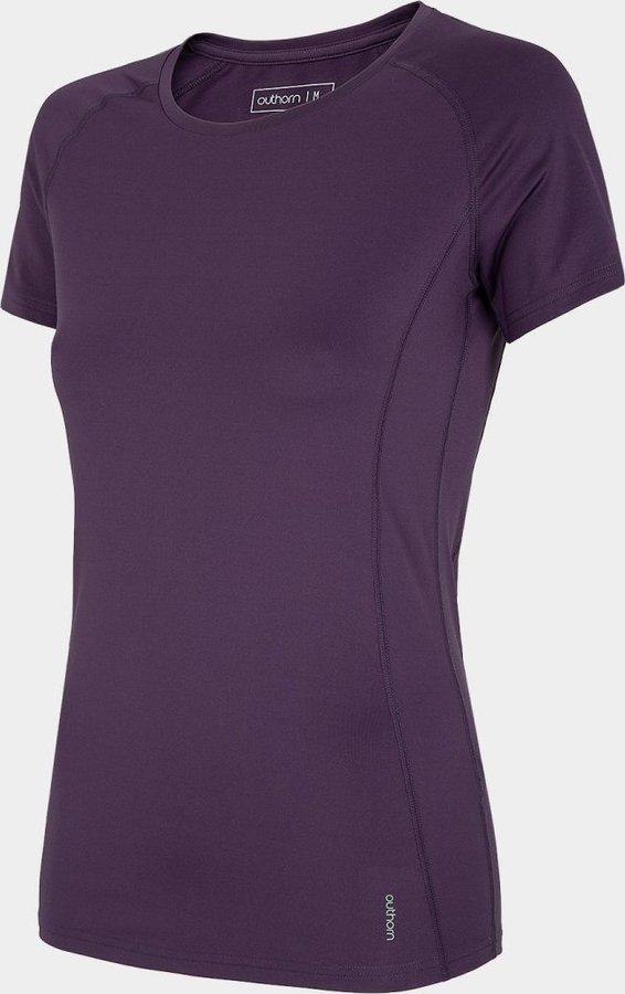 Fialové dámské funkční tričko s krátkým rukávem Outhorn