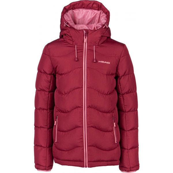 Červená zimní dívčí bunda s kapucí Head