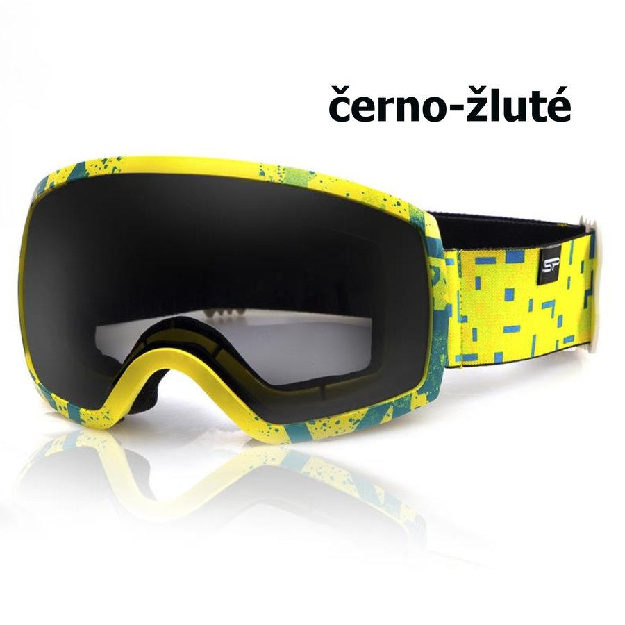Černo-žluté lyžařské brýle Spokey
