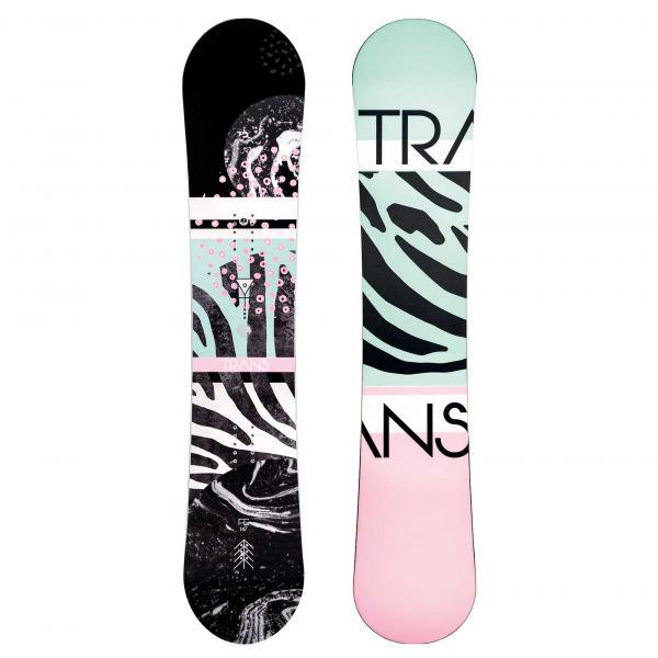 Různobarevný dámský snowboard bez vázání Trans