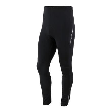 Černé dlouhé zimní pánské cyklistické kalhoty s vložkou Sensor - velikost S