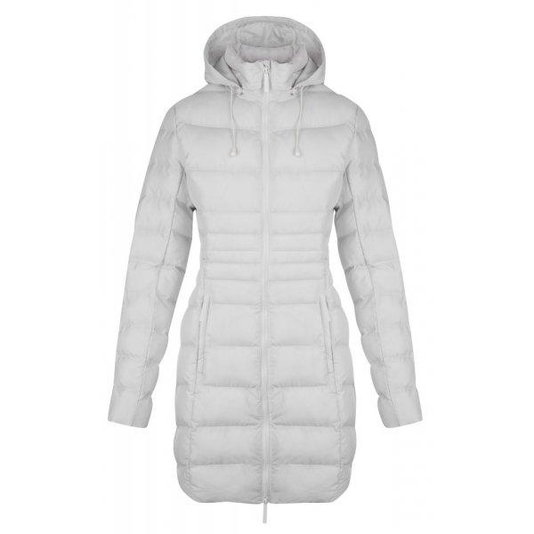 Bílý dámský kabát Loap