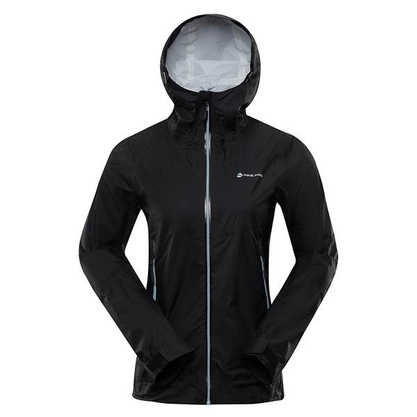 Černá nepromokavá dámská bunda s kapucí Alpine Pro - velikost M