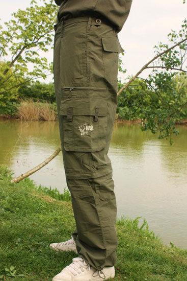 Zelené pánské rybářské kalhoty Combat Trousers Lon, Nash Tackle - velikost M