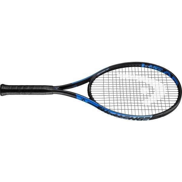 Černo-modrá tenisová raketa Head