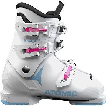 Bílé dětské lyžařské boty Atomic - velikost vnitřní stélky 23 cm