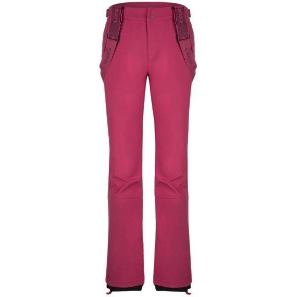 Růžové softshellové zimní dámské kalhoty Loap - velikost XS