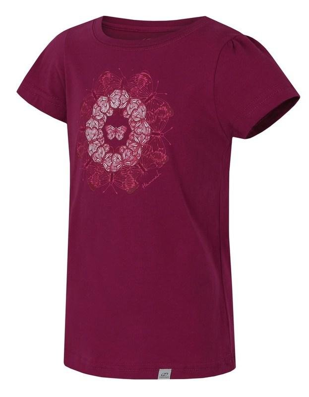 Červené dětské tričko s krátkým rukávem Hannah - velikost 128