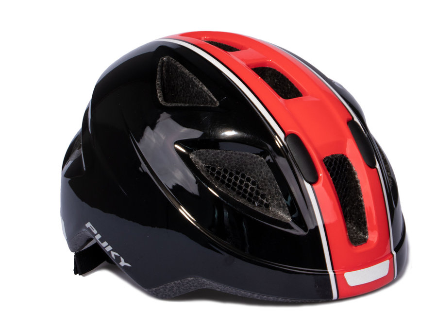 Cyklistická helma - PUKY - Přilba PH 8-M - černá / červená - velikost 51-56 cm