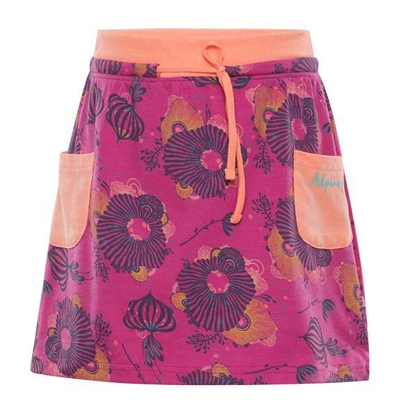 Růžová dívčí sukně Alpine Pro - velikost 140-146