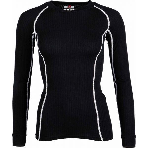 Černé dámské funkční tričko s dlouhým rukávem Swix
