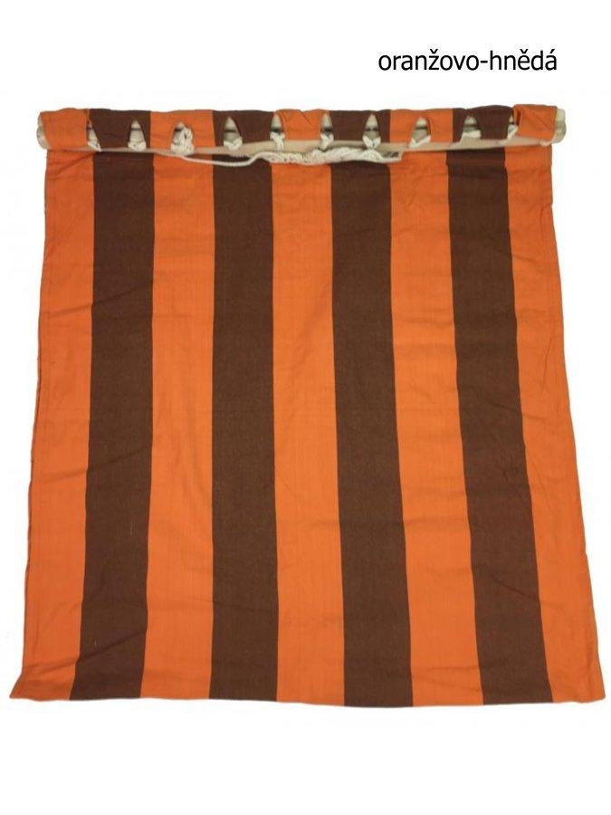 Hnědo-oranžová houpací síť pro 1 osobu Sedco
