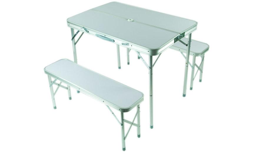 Kempingová sada nábytku Zulu 1x stůl, 2x lavice