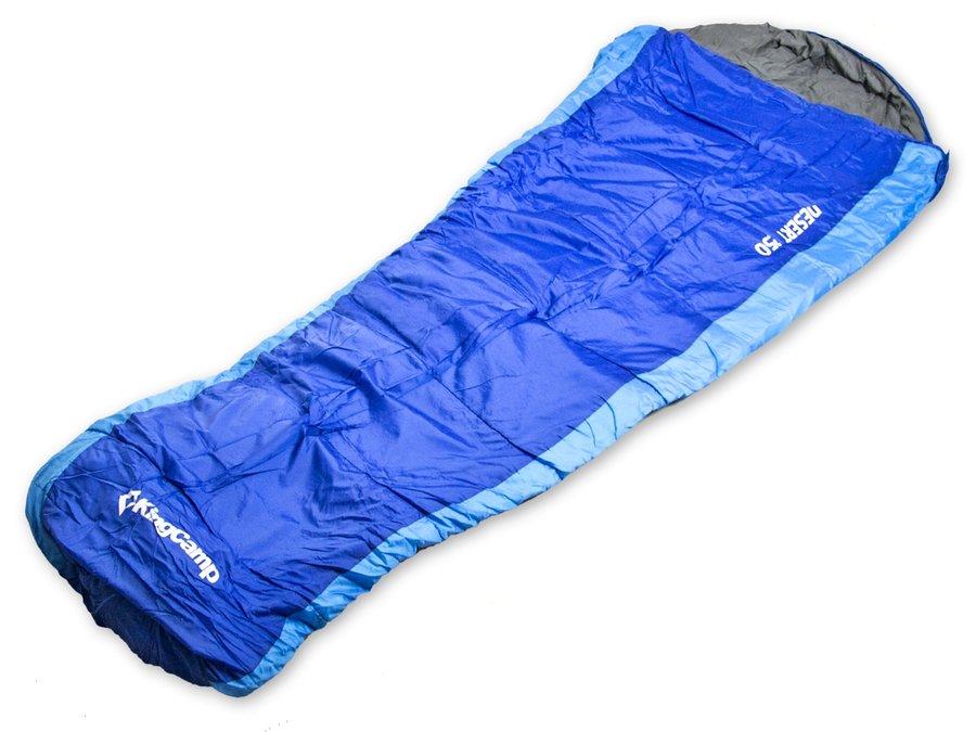 Modrý spací pytel Desert 250, KING CAMP - délka 230 cm