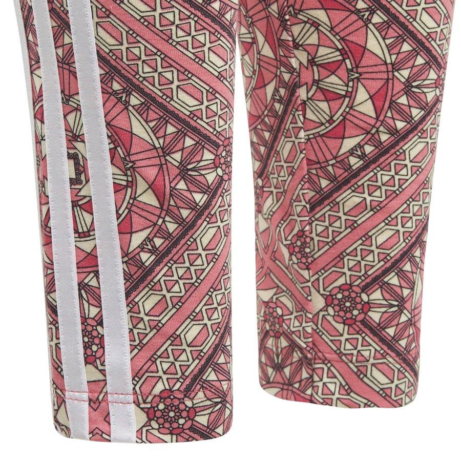 Růžové dětské dívčí legíny Adidas - velikost 128