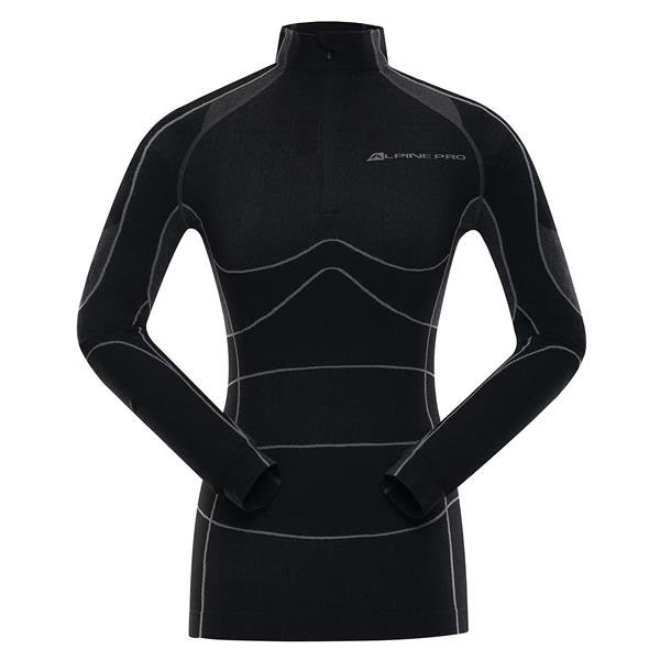 Černé dámské funkční tričko Alpine Pro - velikost XL-XXL