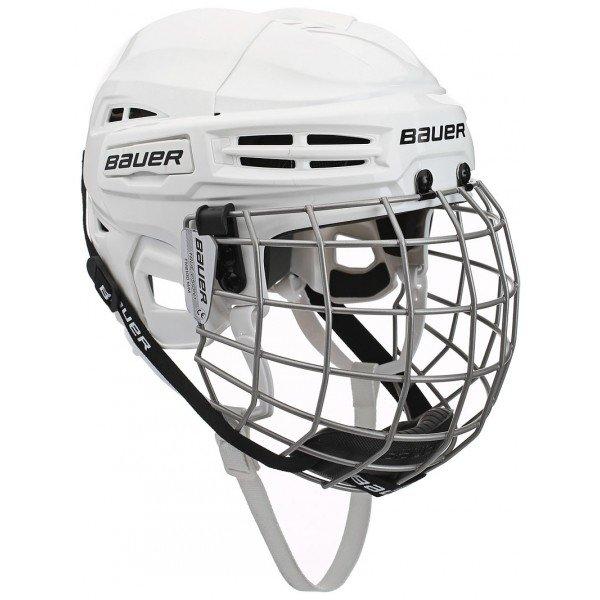 Bílá hokejová helma Bauer - velikost L