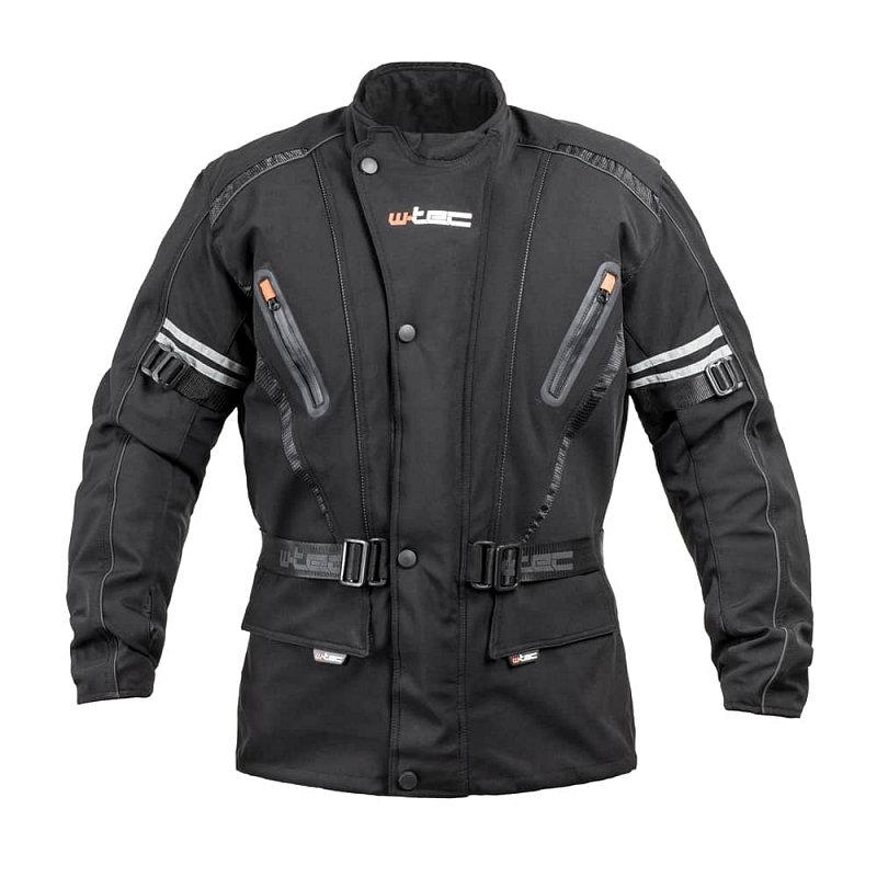 Černá pánská motorkářská bunda Rokosh GS-1758, W-TEC