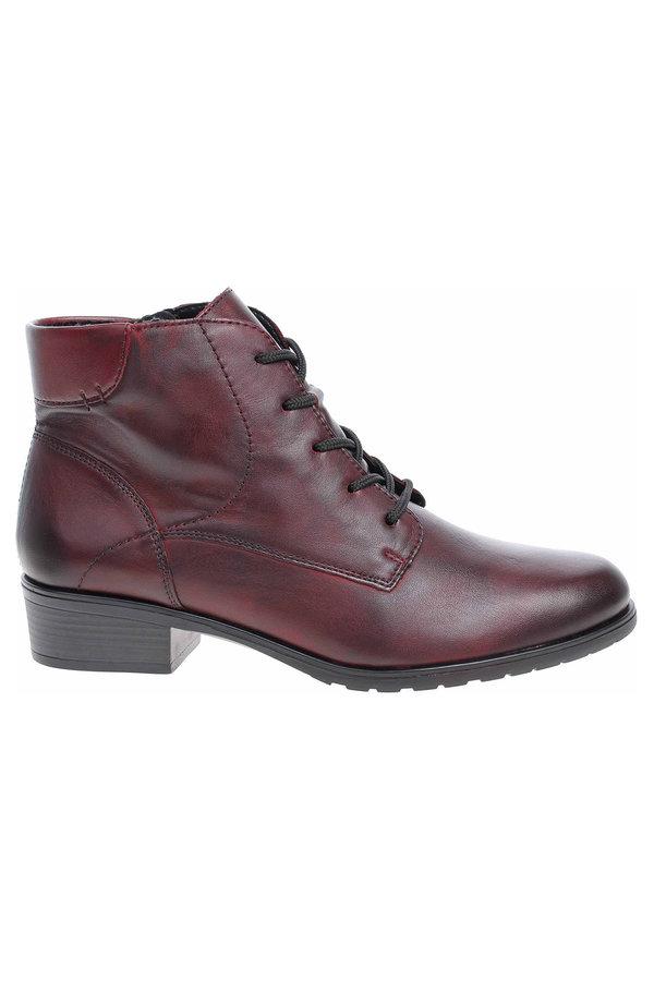 Červené dámské kotníkové boty Remonte