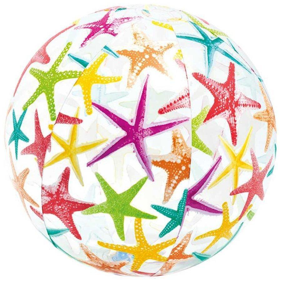 Plážový míč - Intex Míč 51 cm barevný vzor hvězdice 59040