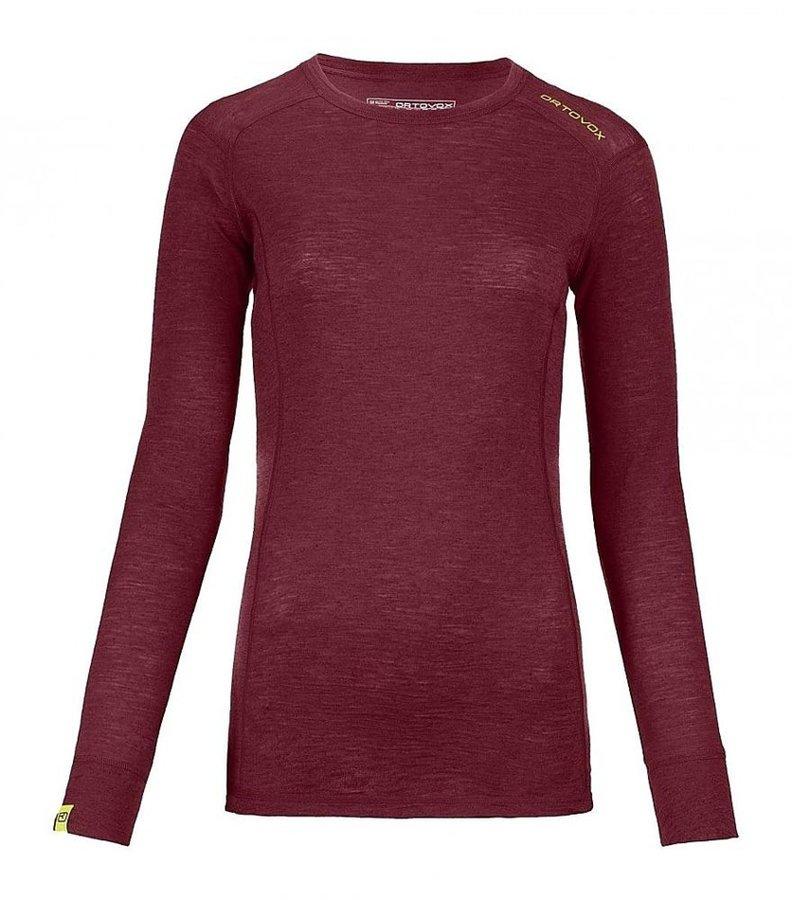 Červené dámské termo tričko s dlouhým rukávem Ortovox