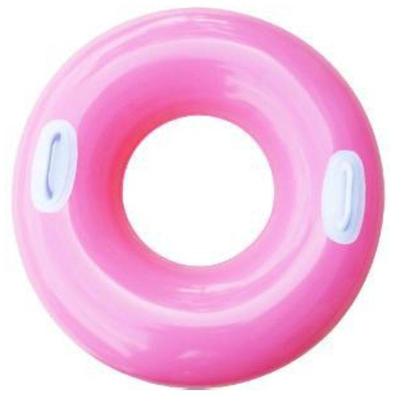 Růžový dětský nafukovací kruh INTEX