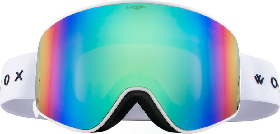 Bílé lyžařské brýle Woox
