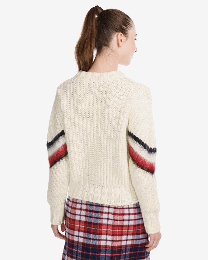 Béžový dámský svetr Tommy Hilfiger - velikost L