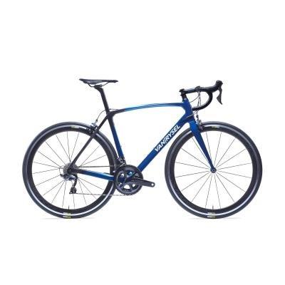 Modré silniční kolo Ultra CF Ultegra, B'TWIN