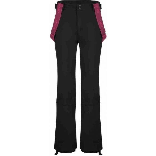 Černé softshellové zimní dámské kalhoty Loap