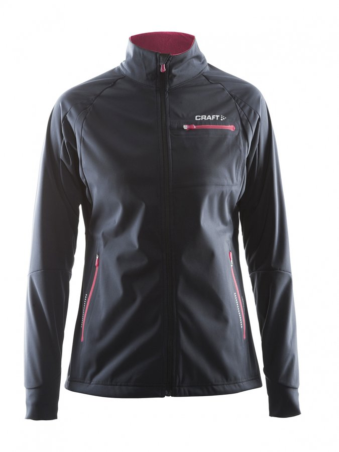 Černá dámská bunda na běžky Craft - velikost M