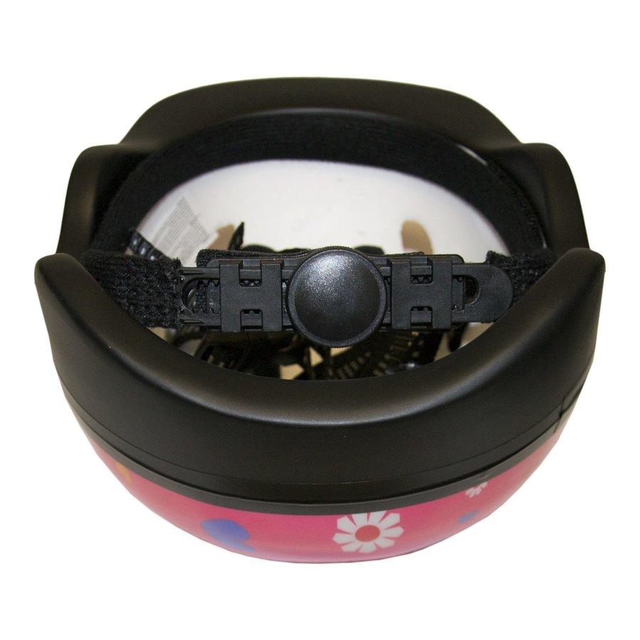 Růžová dětská cyklistická helma Master - velikost 44-48 cm