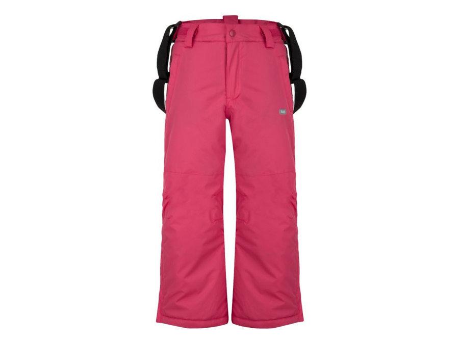 Růžové dětské dívčí nebo chlapecké lyžařské kalhoty Loap - velikost 164