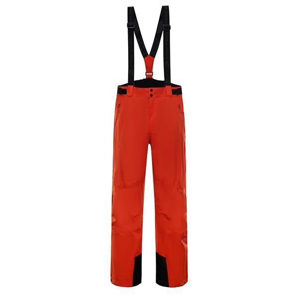 Červené pánské lyžařské kalhoty Alpine Pro - velikost XL
