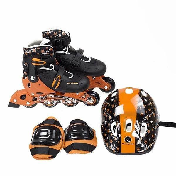 Černo-oranžové kolečkové brusle Nils Extreme