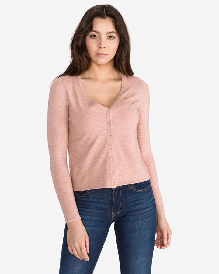 Růžový dámský svetr Vero Moda - velikost M