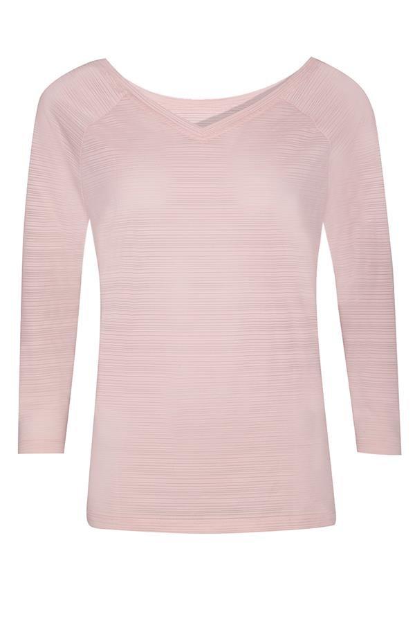 Růžové dámské tričko s 3/4 rukávem Alpine Pro - velikost XS