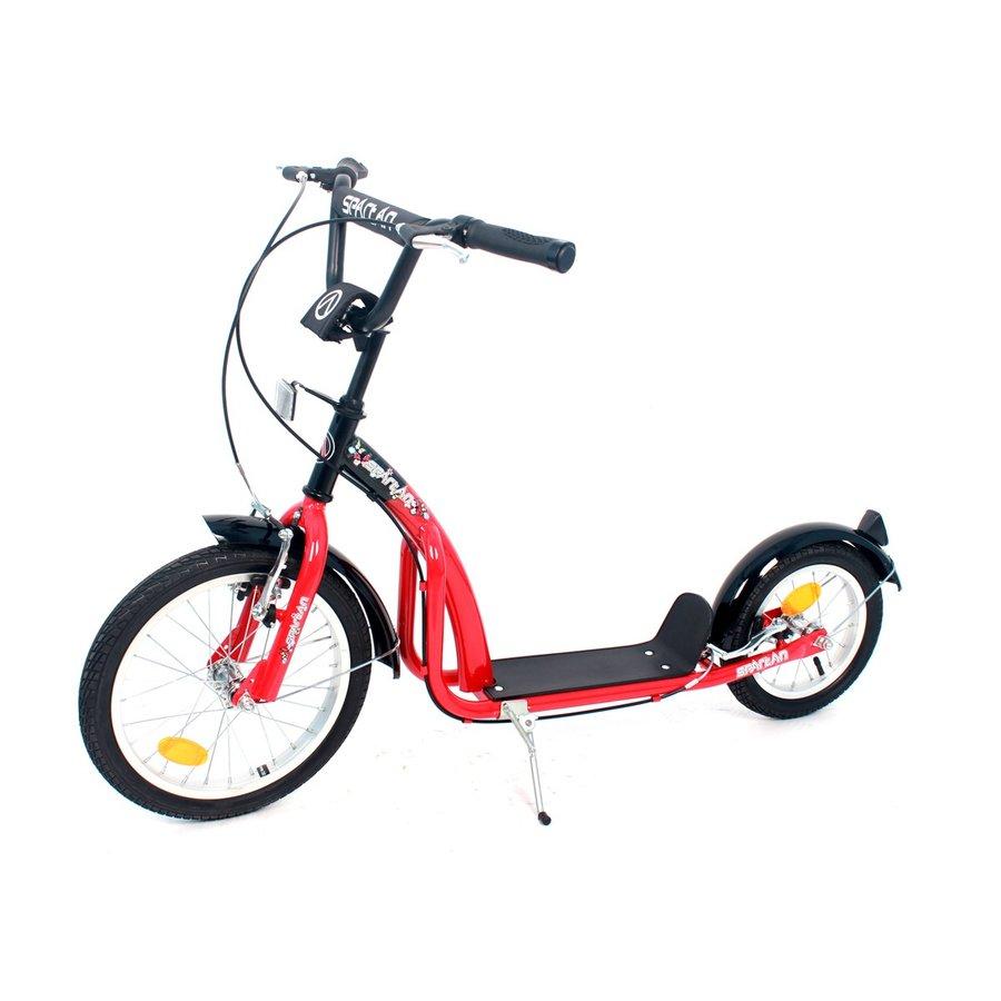 Červená koloběžka pro dospělé SPARTAN SPORT - nosnost 100 kg