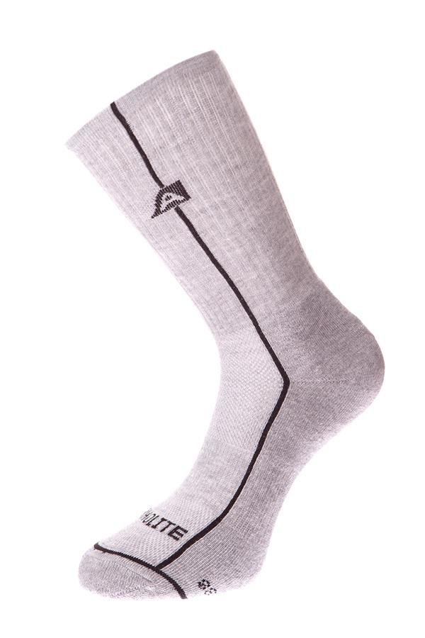 Šedé vysoké ponožky Alpine Pro