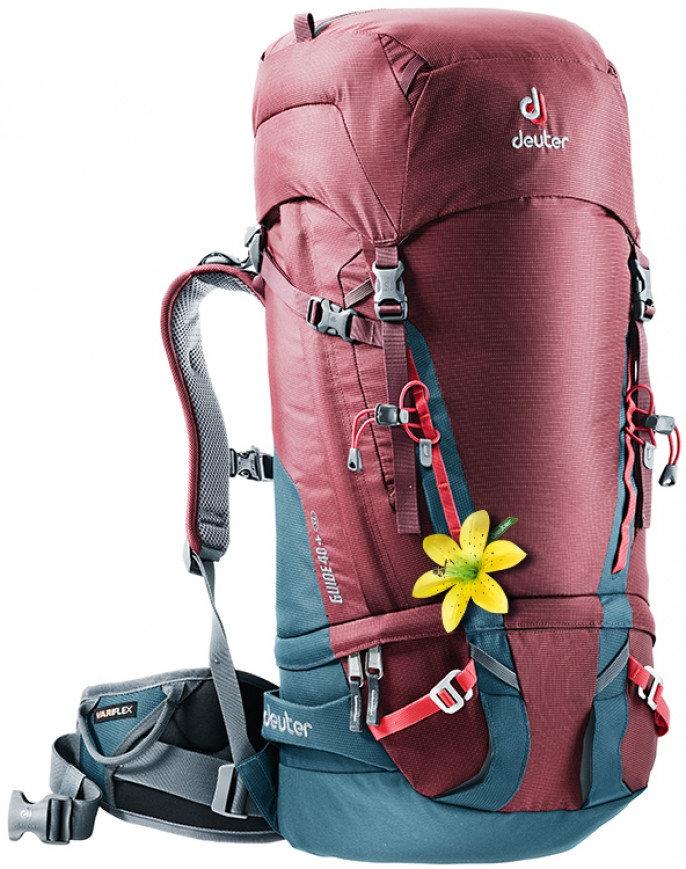 Červený skialpový batoh Deuter - objem 40 l