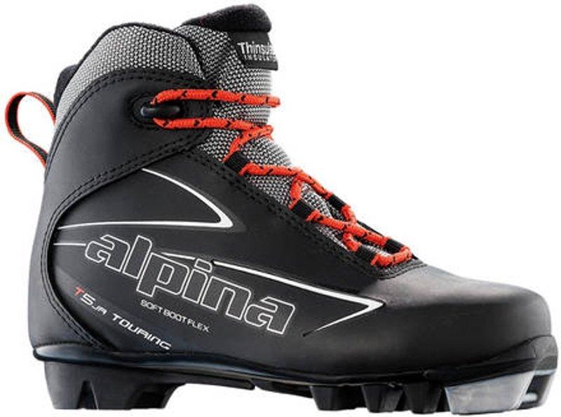 Černé dětské boty na běžky Alpina - velikost 28 EU