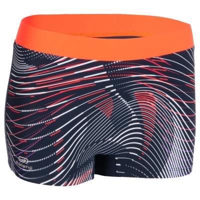 Modro-oranžové dámské kraťasy na atletiku Kalenji